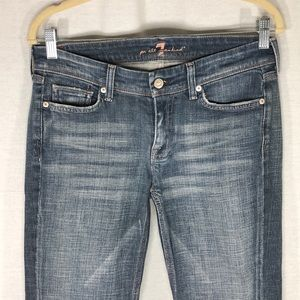 7 for all mankind medium blue jeans size 28